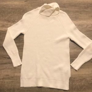 NWT J. Crew cream/white waffle knit turtleneck